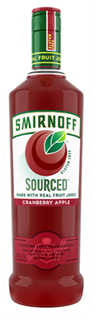 Smirnoff Sourced Vodka Cranberry Apple 1.00l
